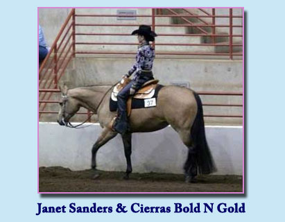 Janet Sanders and Goldie (Cierras Bold N Gold)